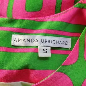 Amanda Uprichard Dresses - AMANDA UPRICHARD pink and green silk mini dress